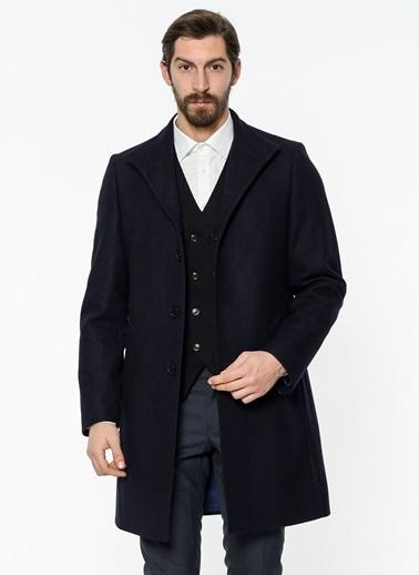 Dar Kesim İngiliz Yaka Klasik Yün Palto-Daffari